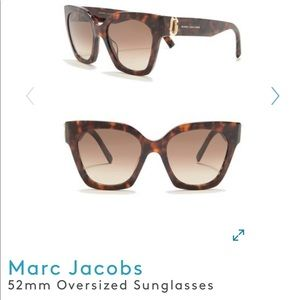 Brand new Marc Jacobs 52mm oversized sunglasses